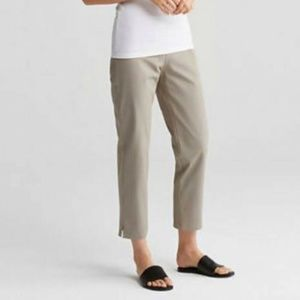 Eileen Fisher Stretch Twill Ankle Pants | Medium